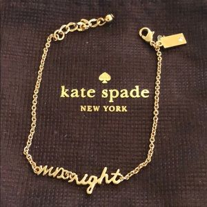 "Kate Spade ""Mrs. Right"" Bracelet w/ bag"